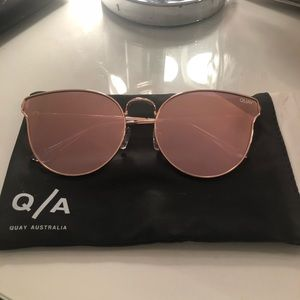 Quay All My Love Sunglasses Rose Pink